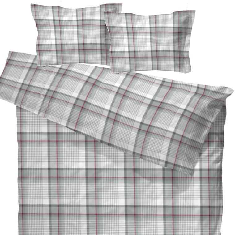 Gusdal flonel sengetøj til dobbeltdyne grå 200x200