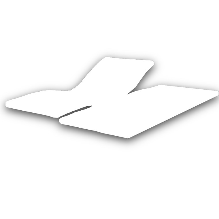 Sopire Absolute White H-split top madras ægyptisk bomuld 180x200