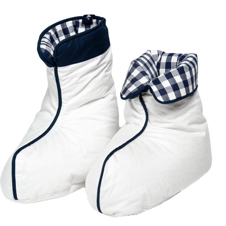 Hästens sove-dunsokker hvid med ternet for