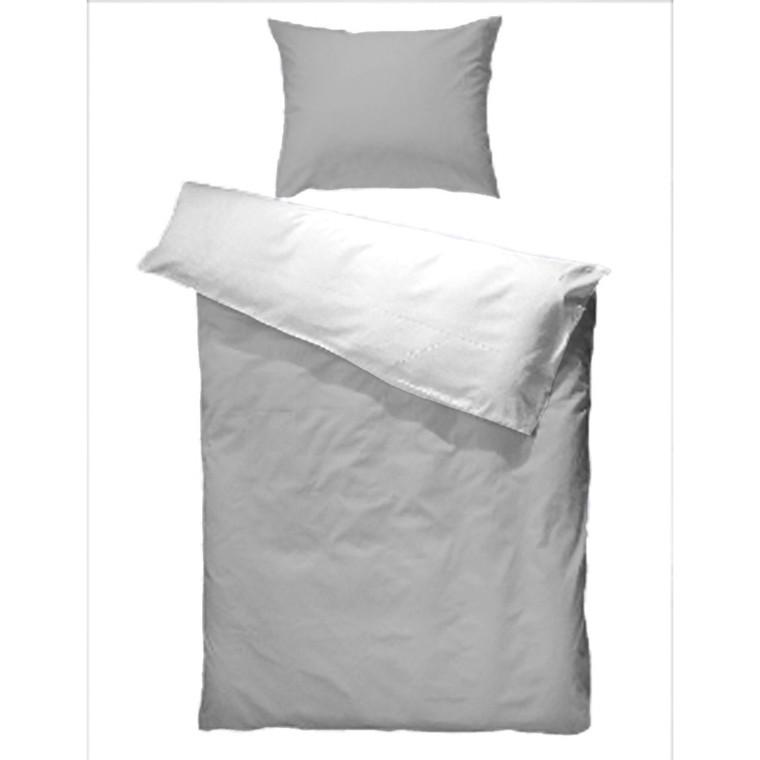 Bomulds jersey sengetøj grå 140x200
