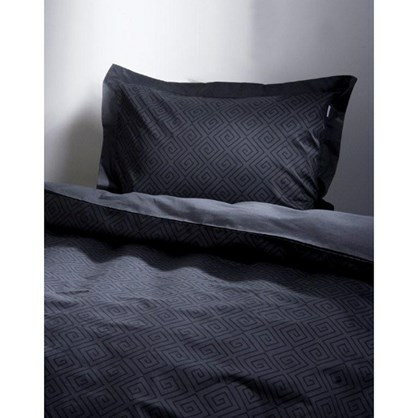 Kristin bomuldssatin sengetøj til dobbeltdyne grå 200x220