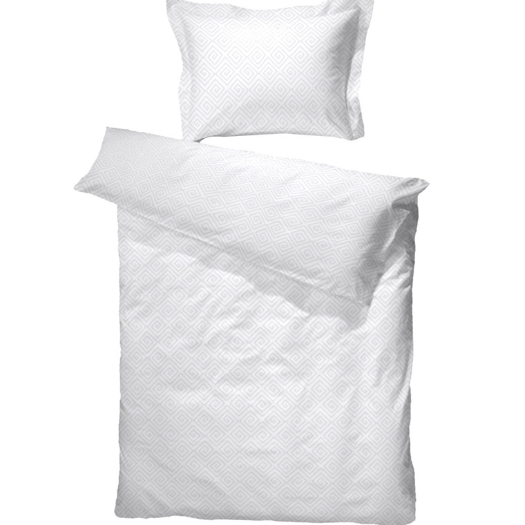 Kristin bomuldssatin sengetøj hvid 140x220