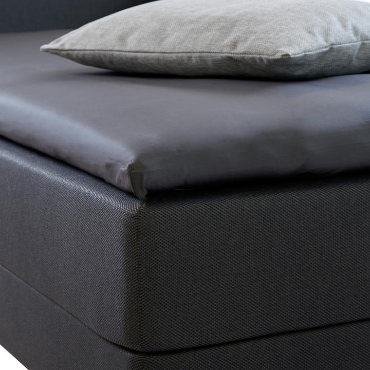Bedroom Collektion lux kuvertlagen - topmadraslagen bomuldssatin koksgrå  180x200x5