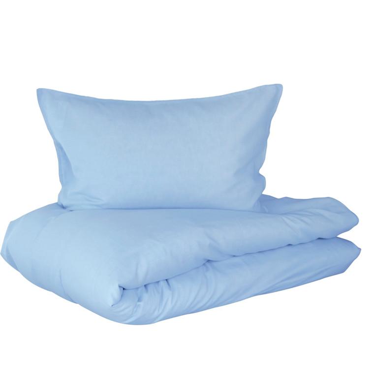Linus sengetøj i hør og bomuld 140x200 lysblå