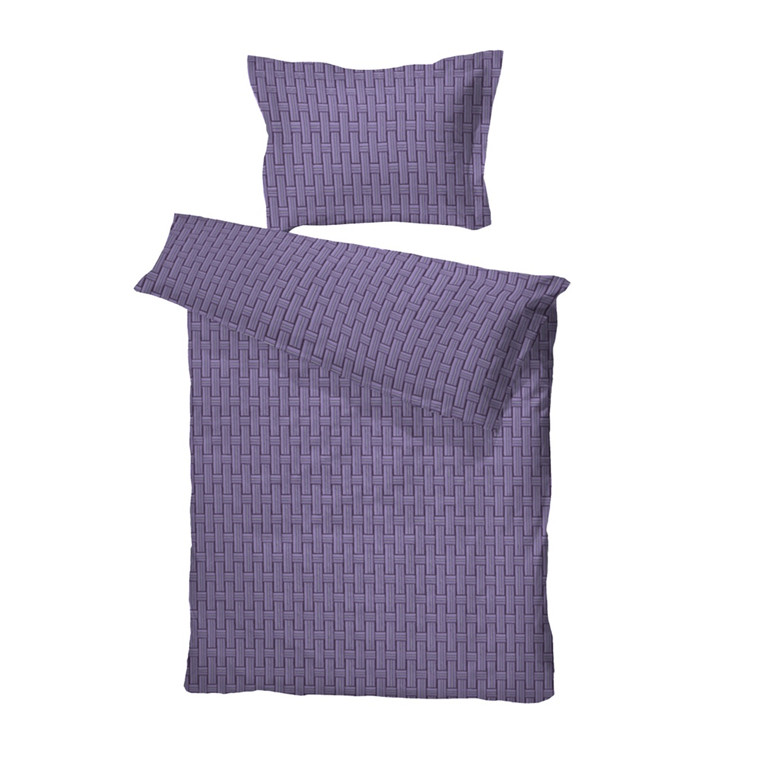 Maja bomuldssatin sengetøj lilla 140x220