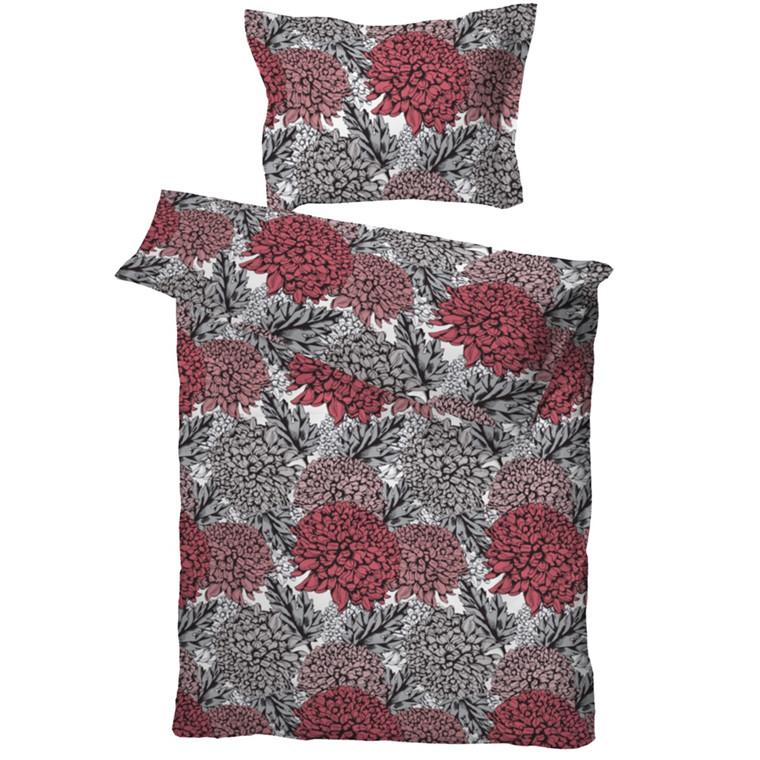 Milla bomuldssatin sengetøj koral 140x220