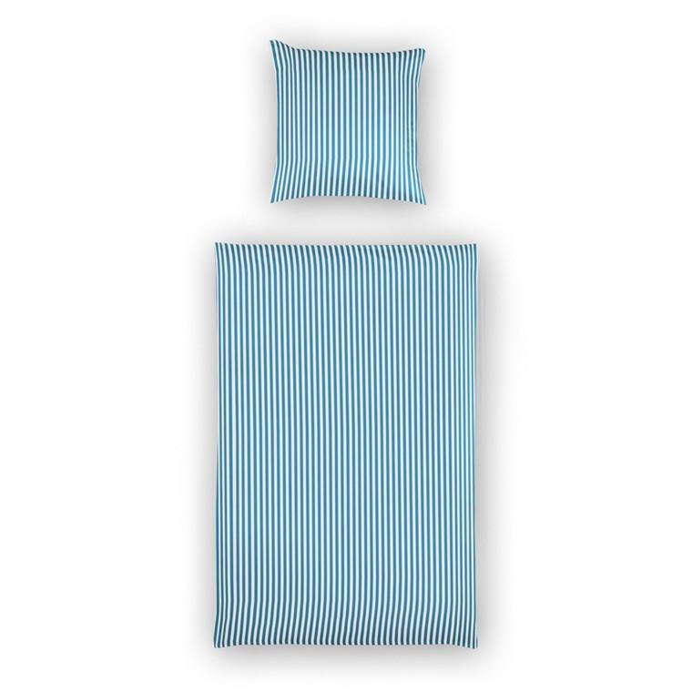 Maco-satin sengetøj mellemblå 135x200 900D/22