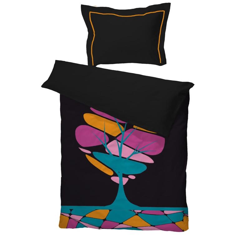 Retro Tree multi sengetøj i bomuldssatin 140x220