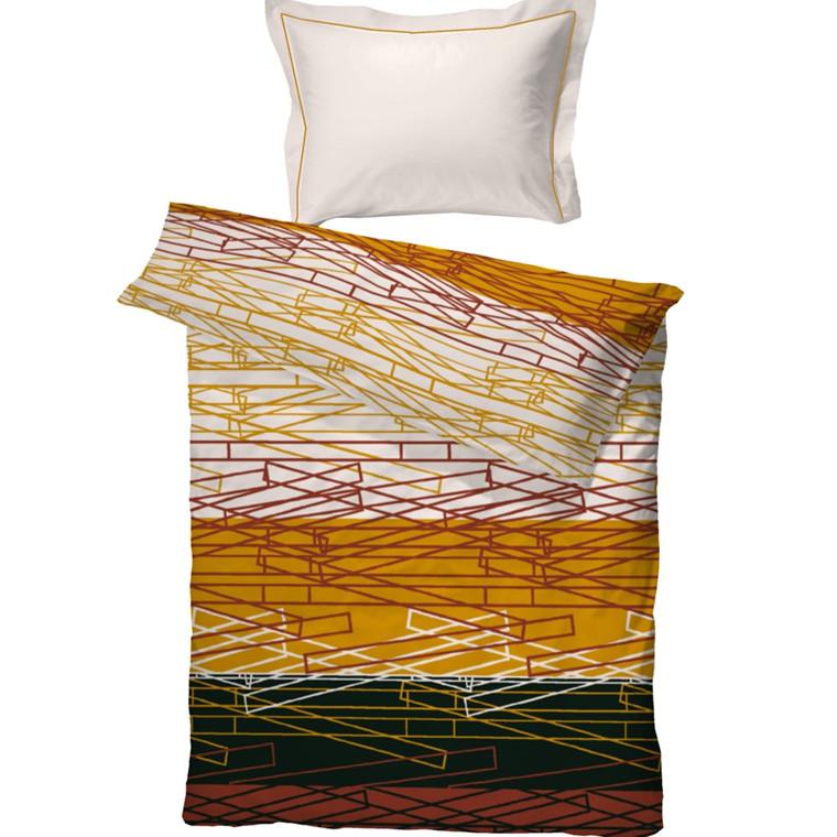 Zimbo bomuldssatin sengetøj orange 140x220
