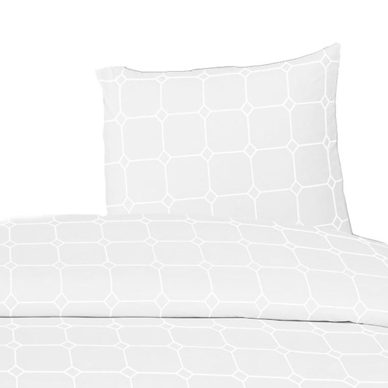 White Carstel bomuldspercale sengetøj TC210 hvid 140x200