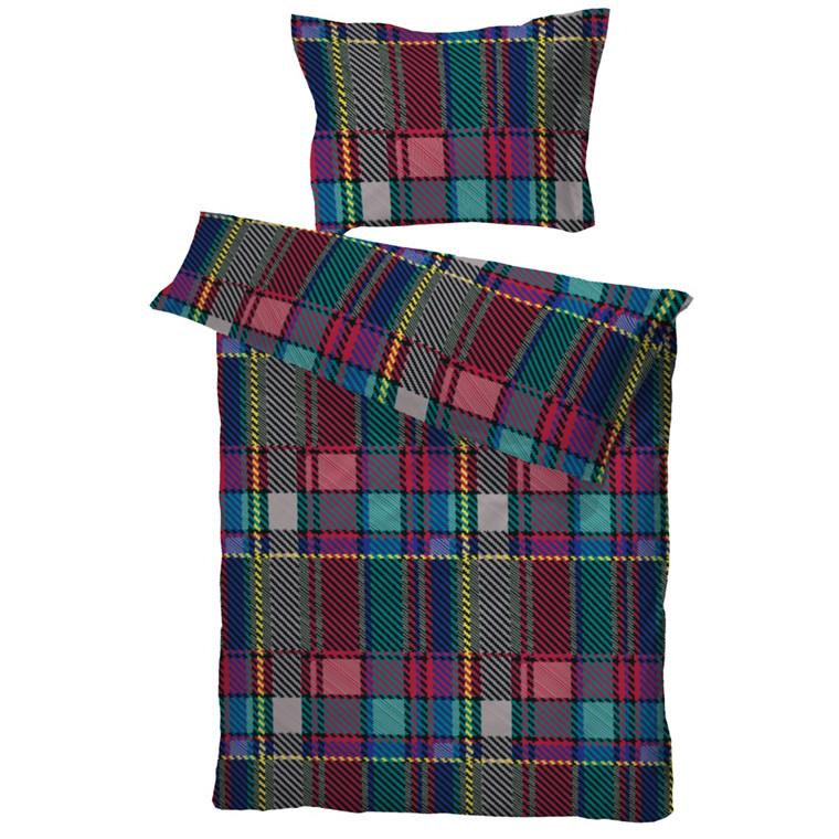 Woven Check multi bomuldssatin sengetøj 140x220