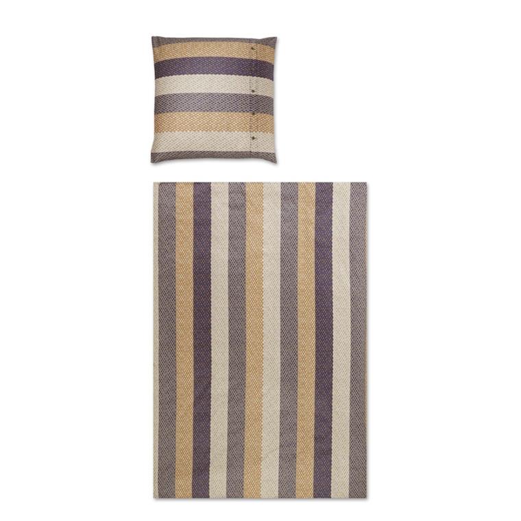 YES Woven stripe marine bomuldspopline 700/2 135x200