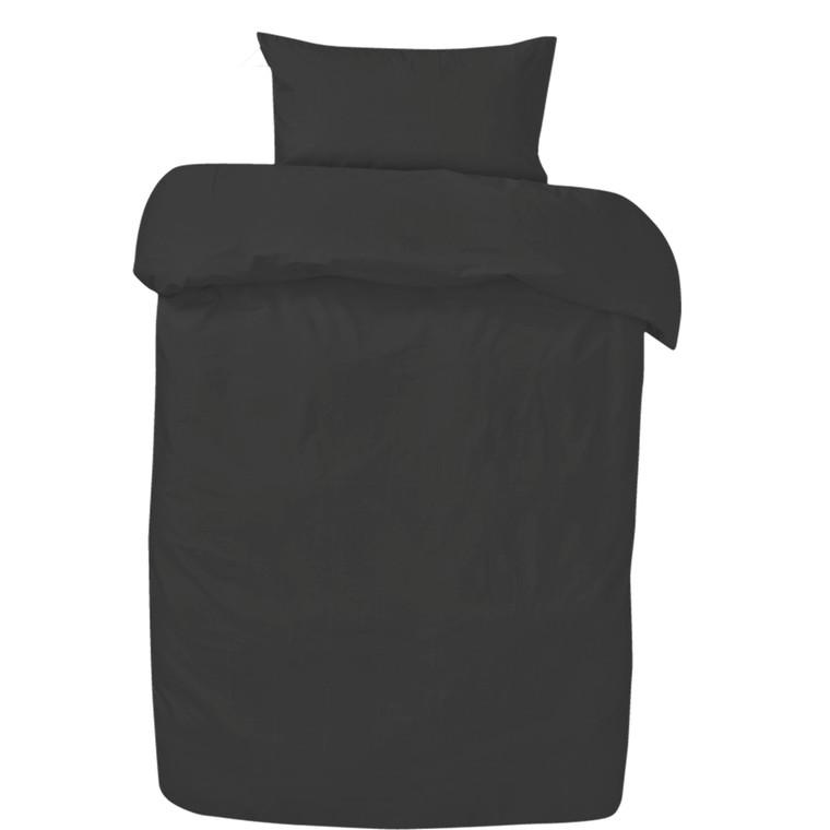 Amadora Stone washed sengetøj mørk grå 140x200