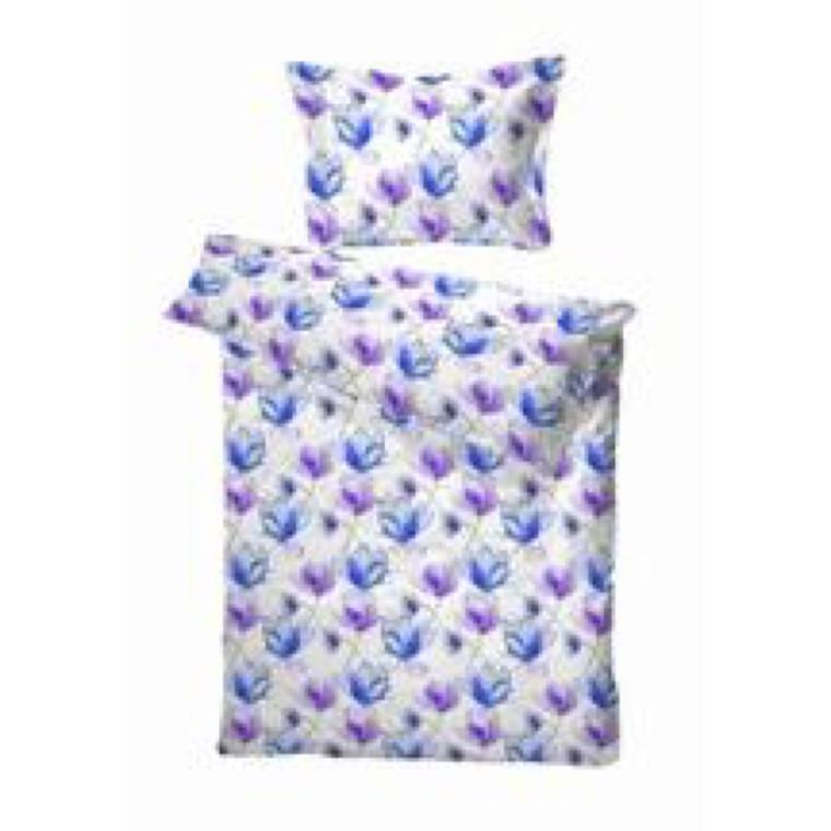 Brest blå sengetøj bomuldssatin 140x220