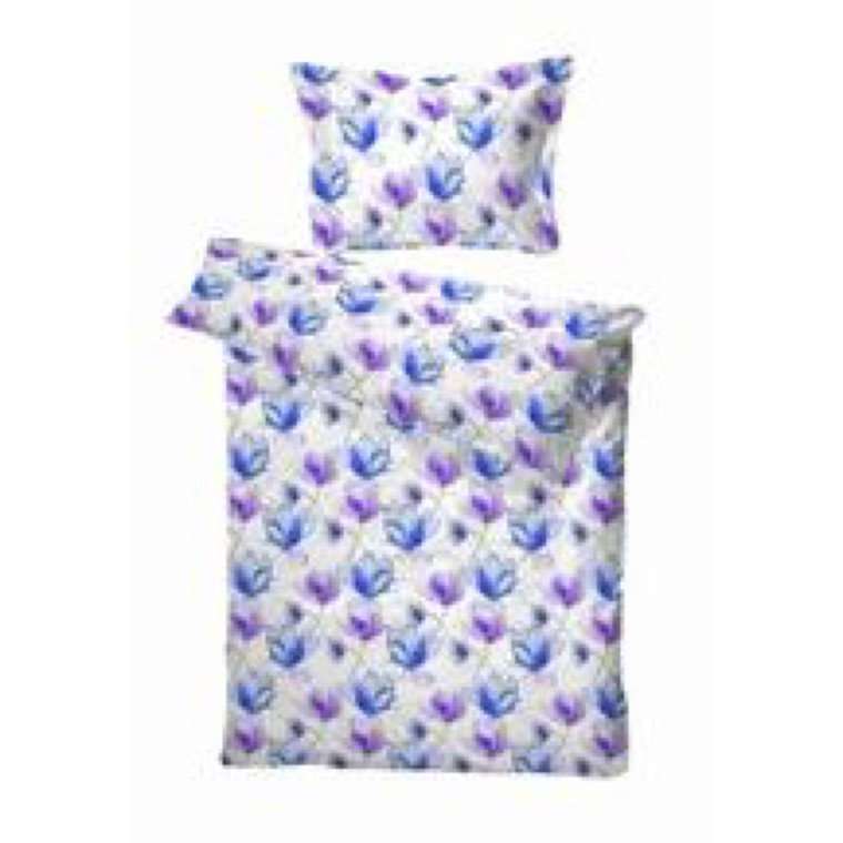 Brest blå sengetøj bomuldssatin 140x200