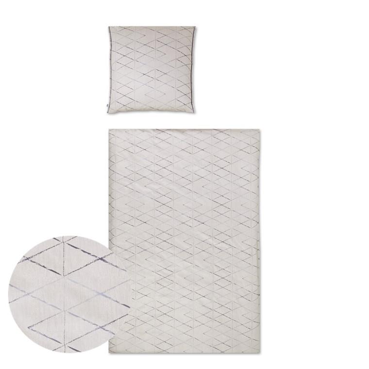YES Diamond poplin sengetøj beige 701/1 135x200