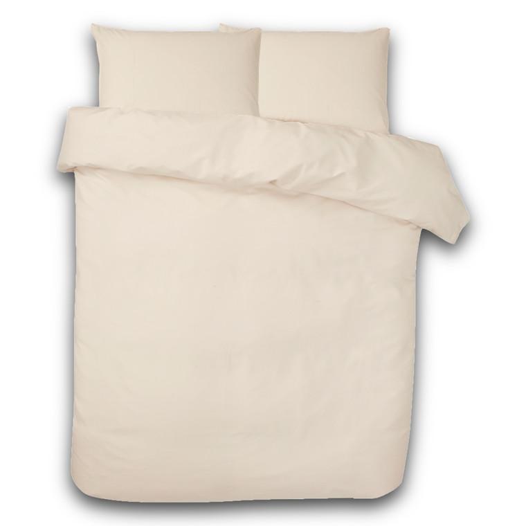 Ægyptisk bomuld sengetøj til dobbeltdyne elfenben 200x220