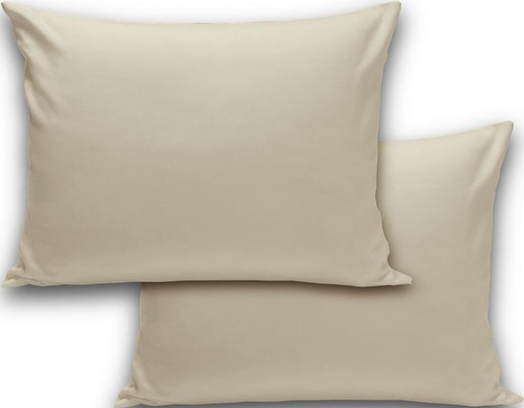 2 stk Ægyptisk bomuld hovedpudebetræk Elfenben til Dunlopillo Premium