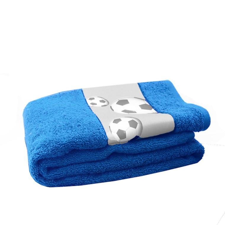Fodbold håndklæde blå 50x100