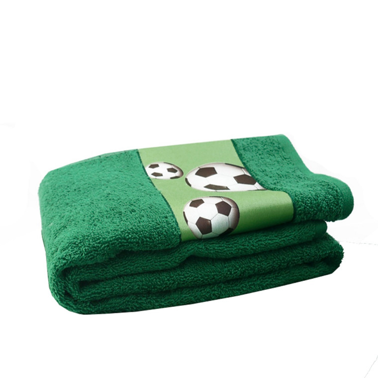 Fodbold håndklæde grøn 50x100
