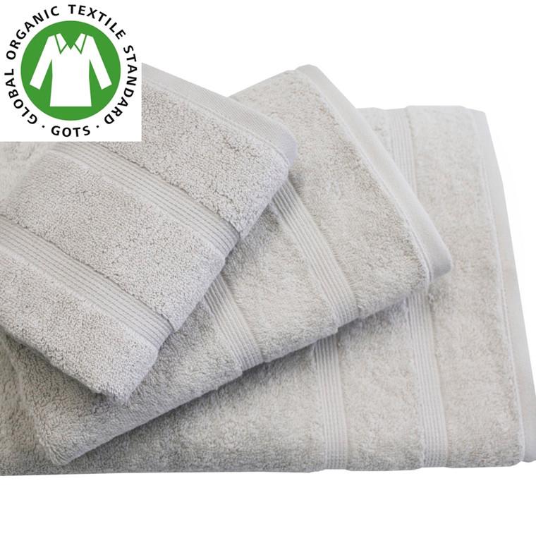 Organic Touch Økologisk håndklæde 50x100 lys grå