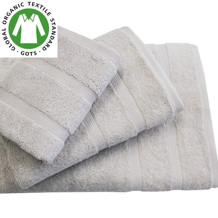 Organic Touch Økologisk badehåndklæde 75x150 lys grå