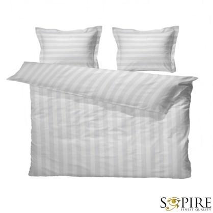SOPIRE Bambus sengetøj til dobbeltdyne Hotelstrib hvid 220x240