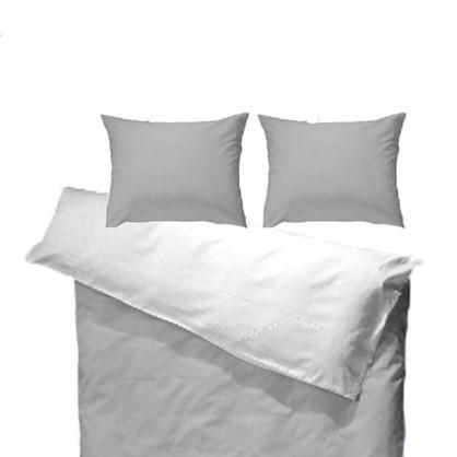 Bomulds jersey sengetøj grå 200x200 til dobbeltdyne