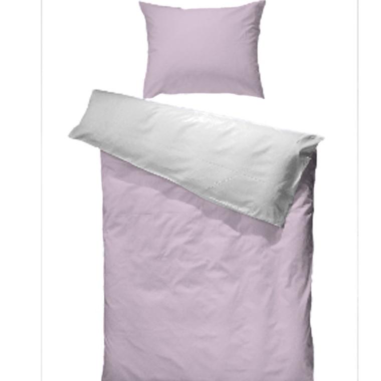 Bomulds jersey sengetøj rosa 140x220