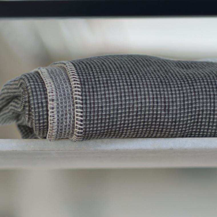 David Fussenegger Lido vaffel koksgrå 140x200 fv. 98