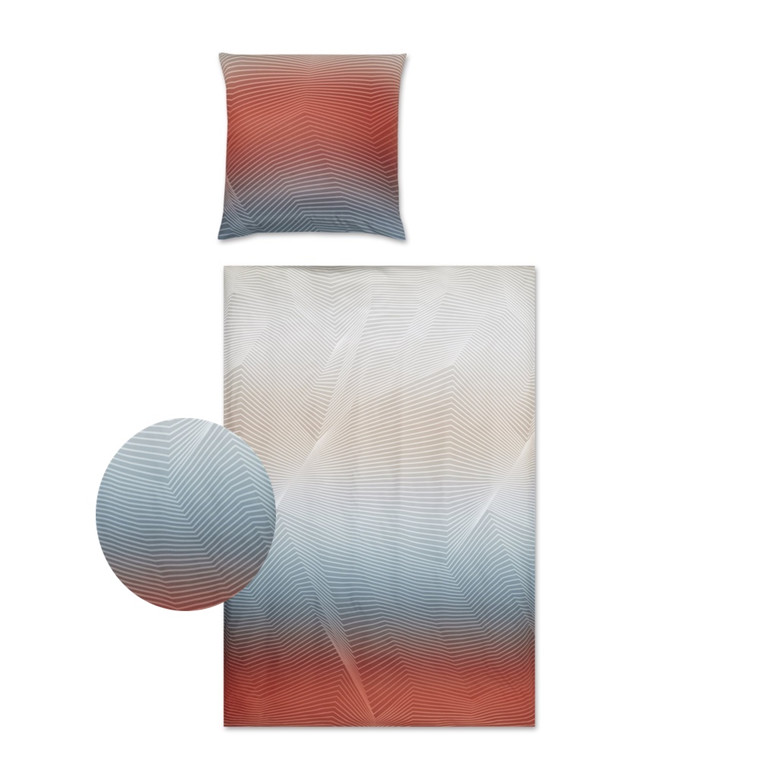 YES Lines makosatin sengetøj koral 710/1 135x220