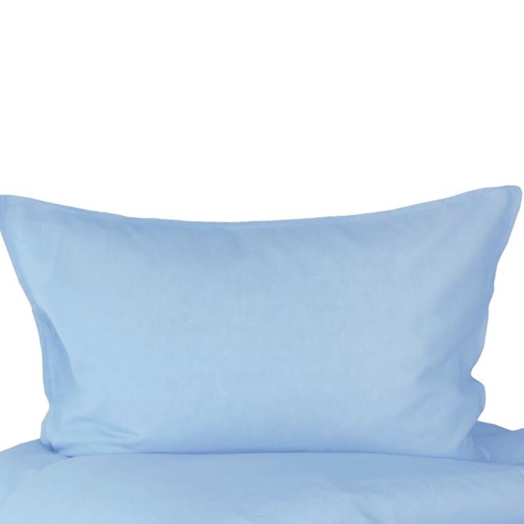 Pudebetræk til stor pude 70x100 med hør og bomuld lys blå