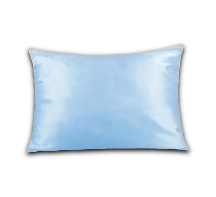 Jersey hovedpudebetræk til Dunlopillo hovedpude 40x60 lys blå