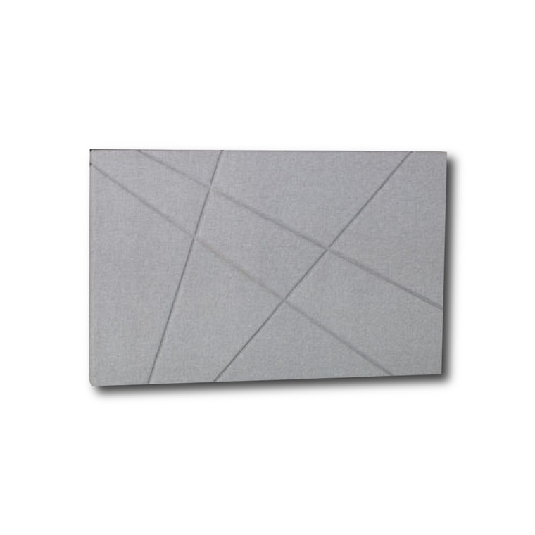 Curem sengegavl Grafisk lys grå 180 cm