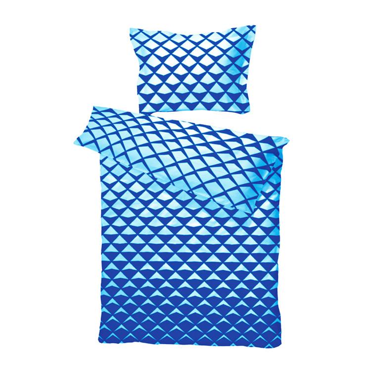 Mads bomuldssatin sengetøj blå 140x200