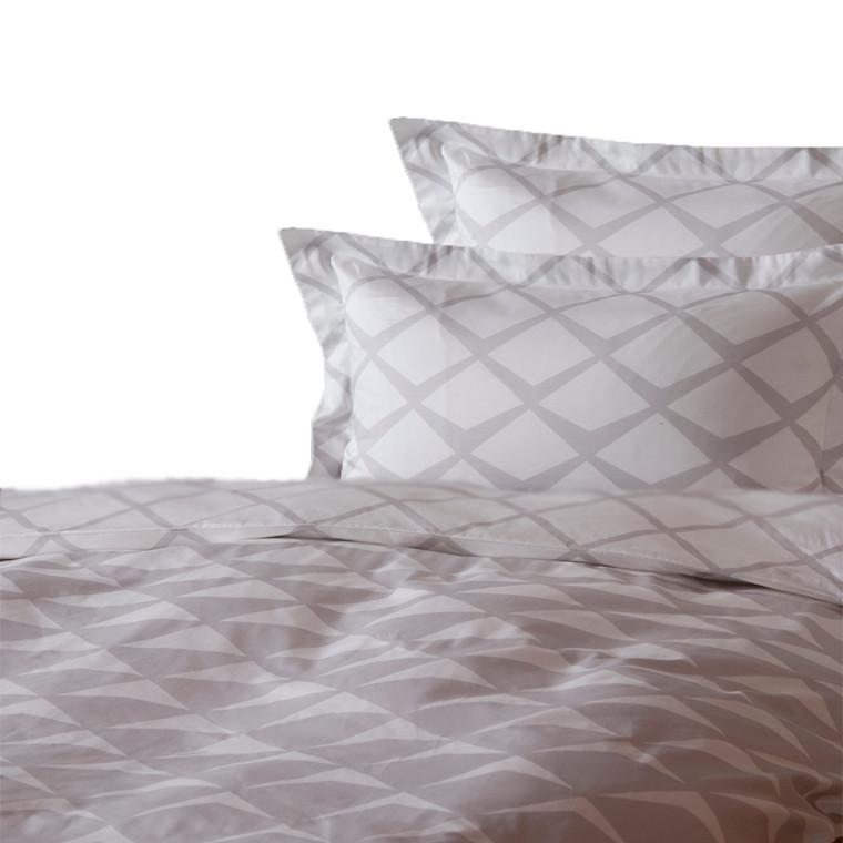 Mads bomuldssatin sengetøj til dobbeltdyne grå 200x220