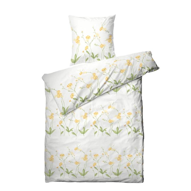 Markblomst bomuldssatin sengetøj 140x220