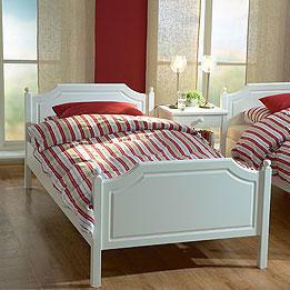 Komplet seng Mia hvid 90x200 med elevation