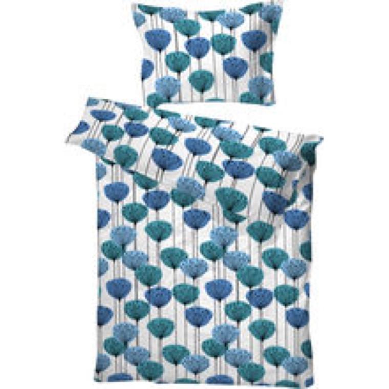 Pernilla bomuldssengetøj blå 140x200