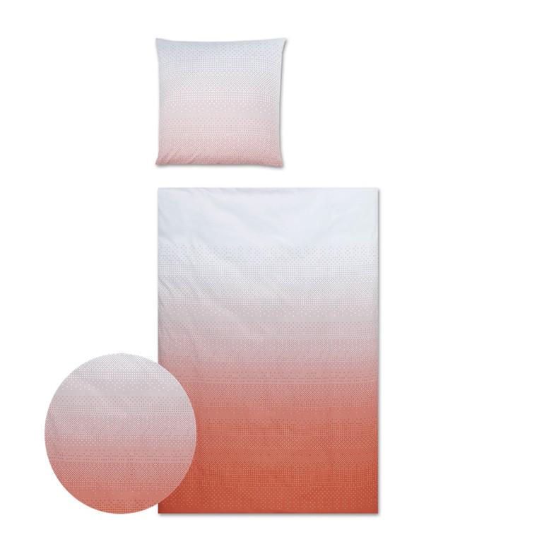 YES Pixel Maco-Satin sengetøj coral 135x200 711/1