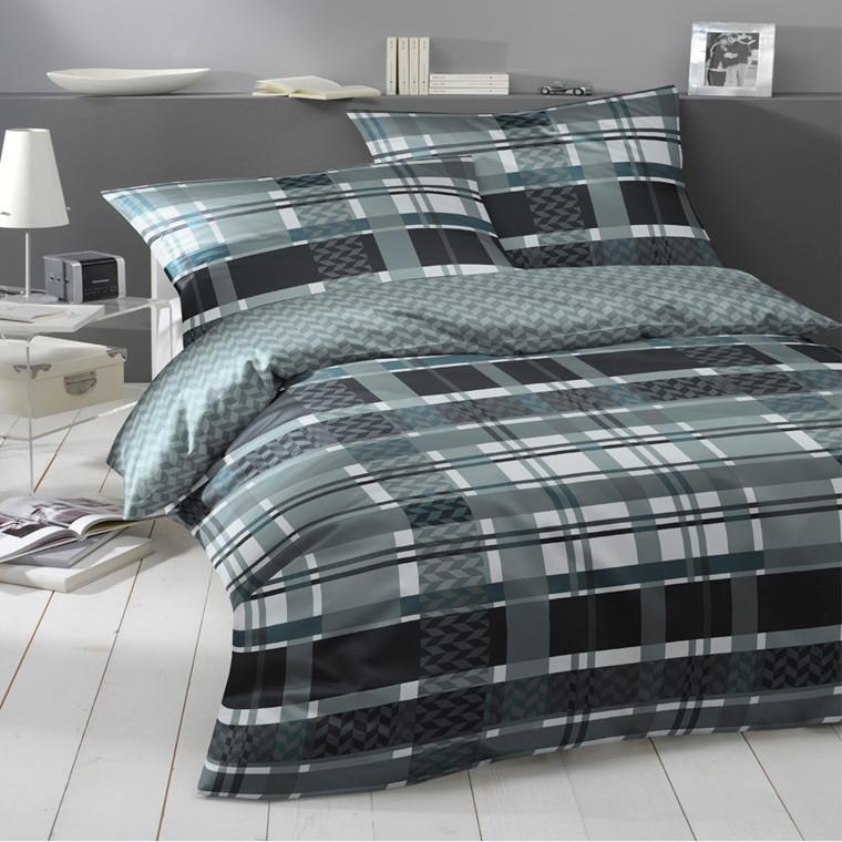 Santani maco satin sengetøj grøn 135x200