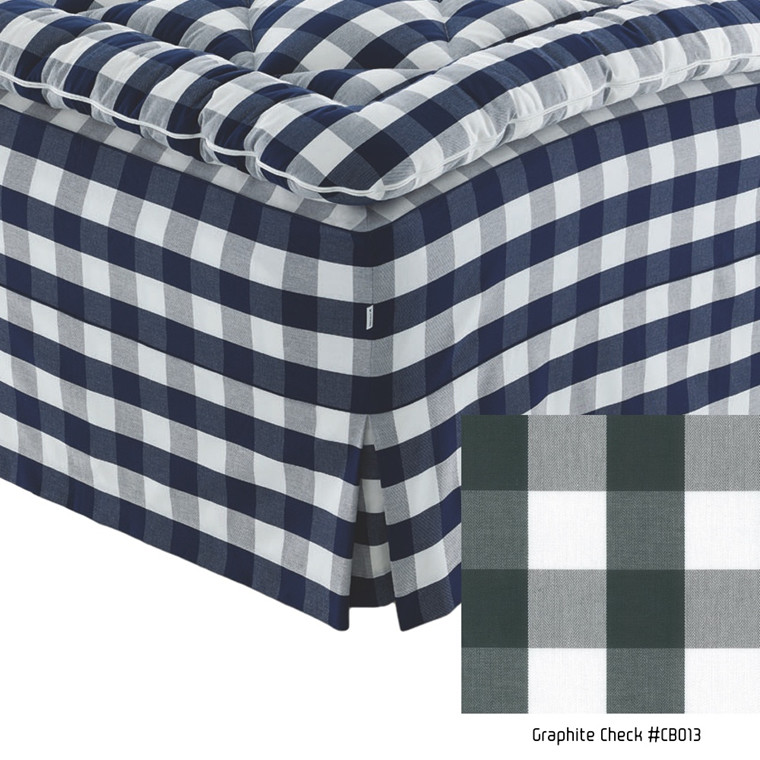 Hastens box pleats sengekappe original graphite tern CB013