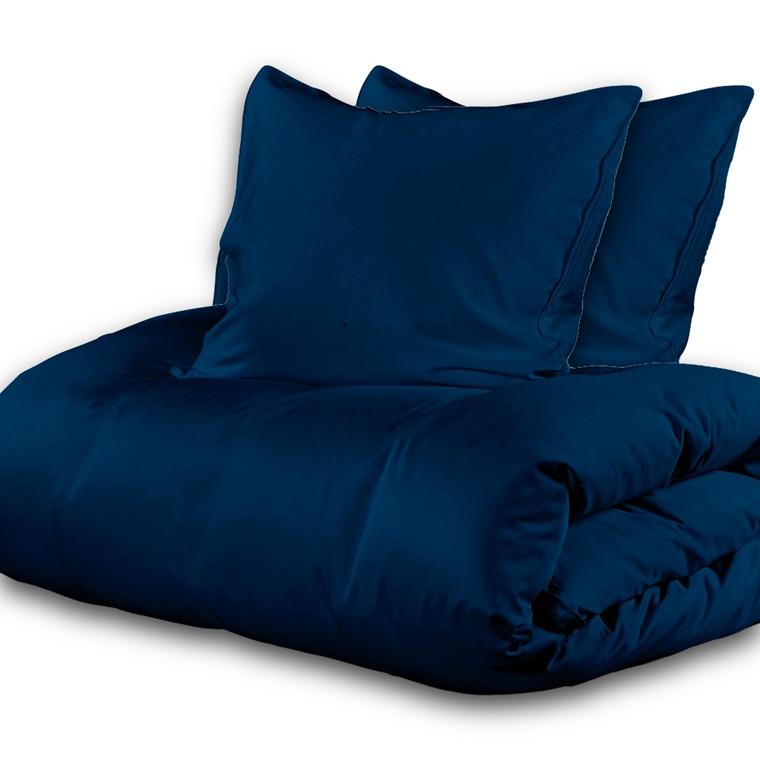 Sopire Silke sengetøj  til dobbeltdyne med bomuld 240x220 kongeblå