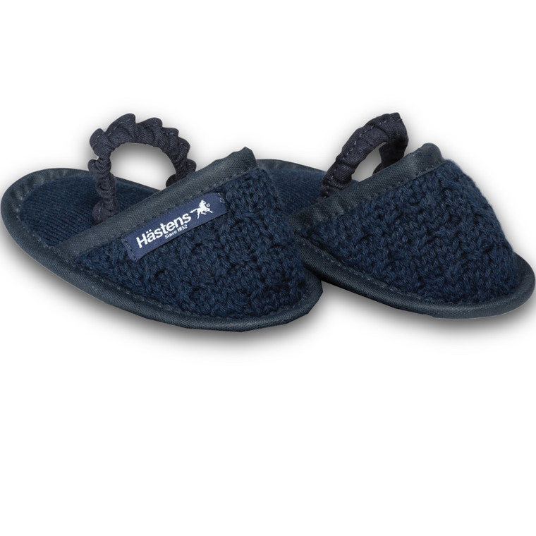 Hästens baby slippers Navy 23/24