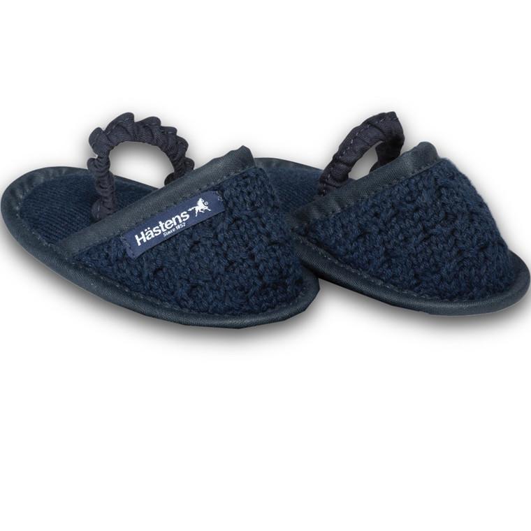 Hästens baby slippers Navy 23/24