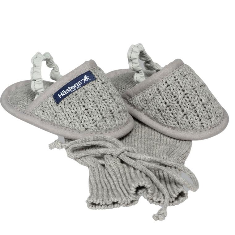 Hästens baby slippers Grey 25/26