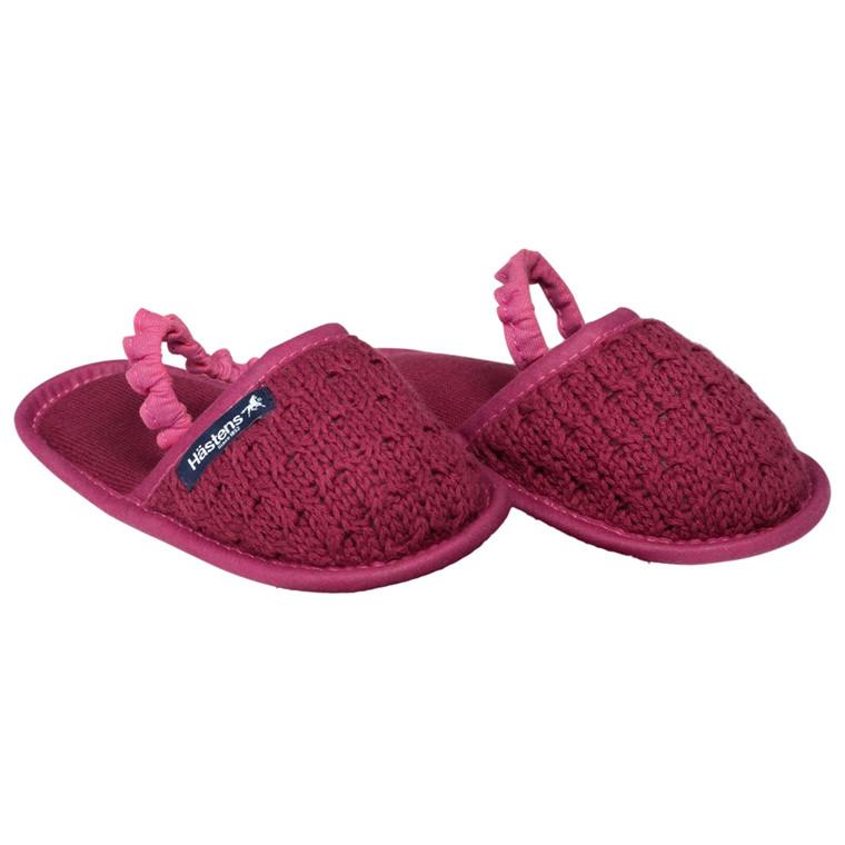 Hästens baby slippers Red Plum 23/24