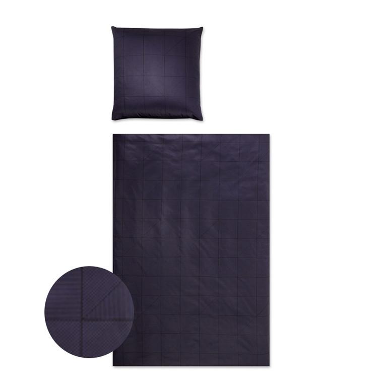 YES Triangel blå bomuldspopline sengetøj 703/9 135x200