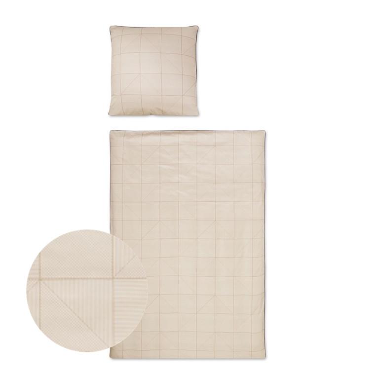 Triangel sand bomuldspoplin sengetøj 703/2 135x220