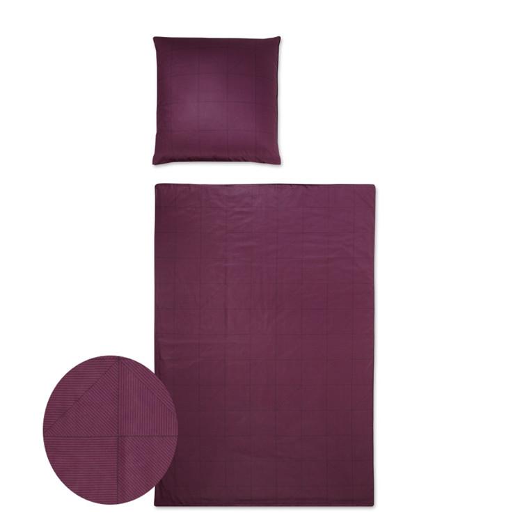 YES Triangel vinrød bomuldspoplin sengetøj 703/1 135x220